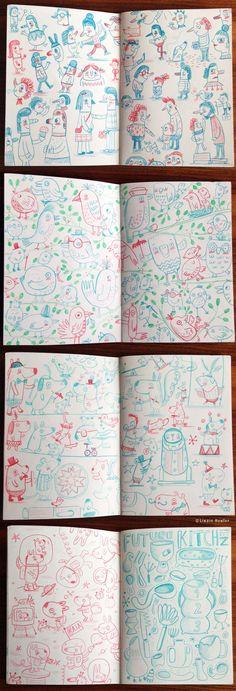 Sketchbook (pencil) on Behance by Linzie Hunter