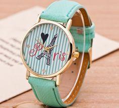 Zegarek Damski PARIS PARYŻ ZŁOTY PASKI Smart Watch, Watches, Leather, Accessories, Fashion, Moda, Smartwatch, Wristwatches, Fashion Styles