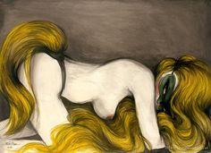 Miss Van a través de la pintura y el diseño desarrolla figuras femeninas en sus obras; presenta a sus personajes siempre enmascarados o escondidos