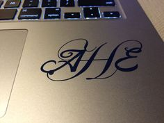 Get a custom made Monogram vinyl decal. These Monogram vinyl decals are not printed vinyl decals but are custom cut to meet your needs. They are all