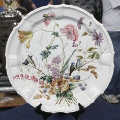 French Faience Plate, ca. 1880