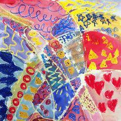 Art BKE: Kindergarten - Primary Pattern Paintings - Quarter...
