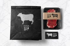 Butcher Shop Bundle OFF by Zhemchuzhina on Beer Packaging, Food Packaging Design, Packaging Design Inspiration, Carne Asada, Beef Cuts Chart, Carnicerias Ideas, Meat Box, Meat Store, Meat Delivery