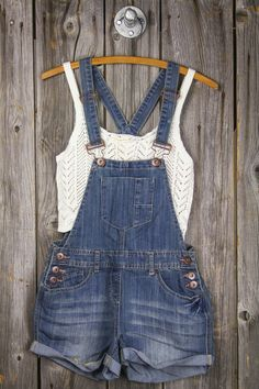Forget plain-jane shorts this year, grab a pair of shortalls! · Adjustable Button Sides + Adjustable straps · Lightweight Denim · Real Pockets · Imported