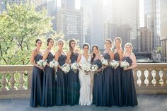 A Modern & Chic White Chicago Wedding Grey Bridesmaid Dresses, Wedding Dresses, Blush By Hayley Paige, Groom Shoes, Chicago Wedding, Couture Dresses, Event Venues, Wedding Vendors, Color Combos