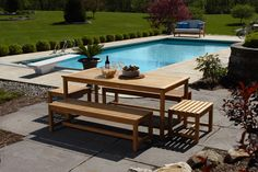 Teak Outdoor Dining Set is appreciated by homeowners for their durability and beauty. Unlike soft wood or layered board furniture, I can iron when moved or used for a long period of time. It's important to finish your teak furniture to ensure years of use