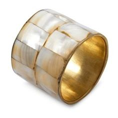 Amazon.com: Sur La Table Mother-Of-Pearl Napkin Ring AHD-00592: Home &…