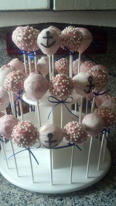 Nautical theme cakepops for Zoe's birthday