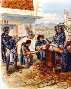 La Pintura y la Guerra. Sursumkorda in memoriam Historical Art, Historical Pictures, Aztec Symbols, Chicano Love, Aztec Empire, Aztec Culture, Aztec Warrior, Inka, Landsknecht