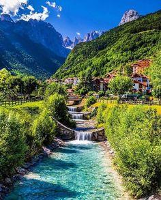 Lush Greens at Lago di Molveno, Italy. Photo by Martin Funk Beautiful Places To Travel, Wonderful Places, Cool Places To Visit, Beautiful World, Amazing Places, Vacation Places, Dream Vacations, Vacation Spots, Vacation Ideas