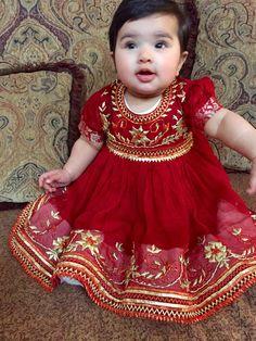 Ayman Baby Girl Frocks, Frocks For Girls, Kids Frocks, Little Girl Dresses, Baby Dresses, Baby Dress Design, Baby Girl Dress Patterns, Kids Dress Wear, Dress Girl