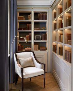 Cozy Reading Area Design Ideas You Must See – Home Office Design Corner Home Library Design, Home Office Design, Home Office Decor, Home Design, Home Interior Design, Interior Architecture, Home Decor, Office Style, Design Ideas