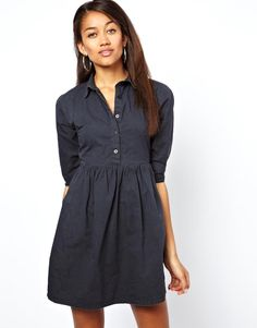 Motel Denim Shirt Dress