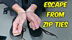 You're in a hostage situation and your hands are constrained with zip ties. Unfortunately, you're not strong enough to bust the ties open. What do you do? This YouTuber demonstrates a simple way to free yourself. Press play to learn about an escape plan for a dangerous situation. It could save your life!