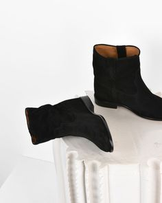 Crisi Suede wedge heel ankle boots