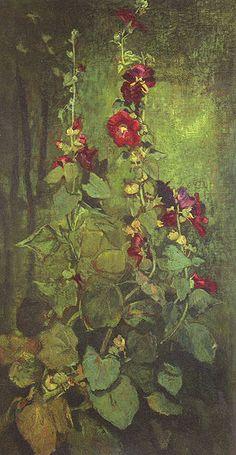 Agathon to Erosanthe, votive wreath 1861 - John La Farge (1835 - 1910)