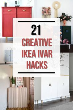 These incredible Ikea IVAR hacks turn the simple cabinet into a show-stopping and functional addition to your home. Easy DIY Ikea cabinet hacks! Which will you try? Ikea Furniture, Custom Furniture, Furniture Makeover, Painted Furniture, Ikea Ivar Cabinet, Ikea Cabinets, Furniture Painting Techniques, Everyday Hacks, Cabinet Makeover