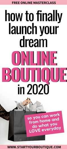 Ready to launch an online boutique? Enter your name and email address to join the free masterclass. You& learn my 4 step process to starting an online boutique business even if you have absolutely no experience! New Business Ideas, Craft Business, Business Planning, Business Tips, Business Coaching, Business Motivation, Boheme Boutique, A Boutique, Boutique Ideas
