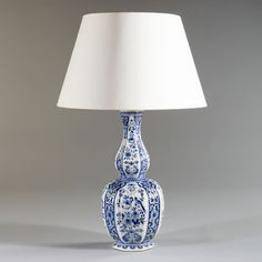 A Fine Late 19th Century Delft Lamp,ca.1890.