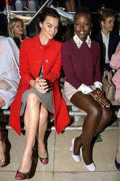 Margot Robbie and Lupita Nyong'o