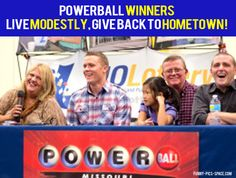 Powerball Winners, Live Modestly, Give Back To Hometown!