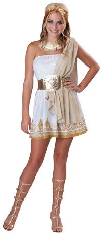 with my bronze mask? $33.65 Glitzy Goddess Costume - Greek and Roman Costumes