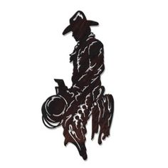 Western Metal Wall Art - Laser Cut Image, Horseback Cowboy At Days End @Amazon.com