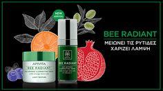 Ορός αντιγήρανσης και λάμψης Apivita bee radiant Light Texture, Light Orange, Serum, Shampoo, Bottle, Outline, Beauty, Flowers, Skin Treatments