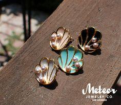 The Tahitian Vintage Inspired Earrings by MeteorJewelryCo on Etsy, $25.00