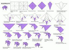 origami facile elephant