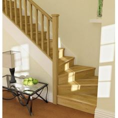 Oak stairparts are an elegant way to refresh or refurbish your existing stairs. House Design, Winder Stairs, House Interior, Stairs Design, House, Oak Stairs, Window Installation, Home Decor, Stairs