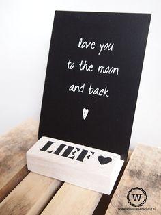 Houten kaarthouder of fotoblokje als #kado voor een #bruiloft of #huwelijk
