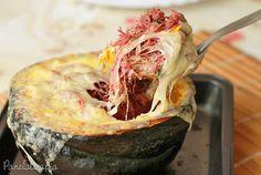 PANELATERAPIA - Blog de Culinária, Gastronomia e Receitas: Barca de Abóbora com Carne Seca
