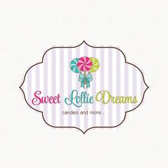 lollypop logo candy logo design party logo by stylemesweetdesign