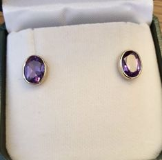 9ct Gold Earrings, Amethyst Jewelry, Amethyst Earrings, Birthstone Jewelry, Etsy Earrings, Valentines Gifts For Her, Gifts For Mum, Gem Shop, Jewelry Gifts