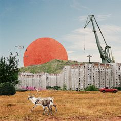 Abstract collage visualisation with great composition and scale