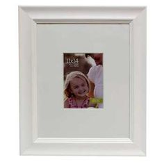"""White 11"""" x 14"""" Museum Style Wall Frame with Mat"""