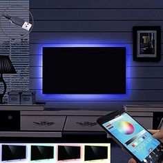 TV Monitor Bias Lighting Backlight Kit USB powered Multi Color 5050 LED Mood Background Accent Lights Strip for HDTV LCD Flat Screen Bluetooth Controlled by Song-Wing