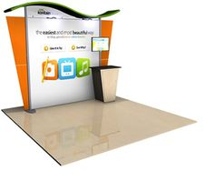 Alumalite Wave Exhibit with Colored Canopy