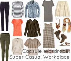 What to wear to work in a very casual office setting. Alison Gary of Wardrobe Oxygen offers Spring dress code tips and a sample capsule work wardrobe.