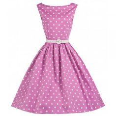 Audrey Pink Polka Dress | Vintage Inspired Fashion - Lindy Bop
