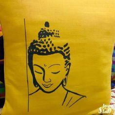 Buddha Drawing, Buddha Painting, Buddha Art, Dress Painting, Fabric Painting, Fabric Art, Fabric Paint Designs, Fabric Design, Jute