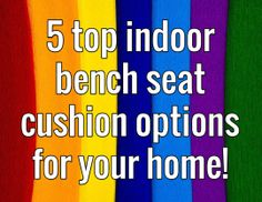 5 top indoor seat options for your home! Diy Ideas, Decor Ideas, Man Caves, Bench Seat, Seat Cushions, Indoor, Top, Men Cave, Bench Seat Cushions