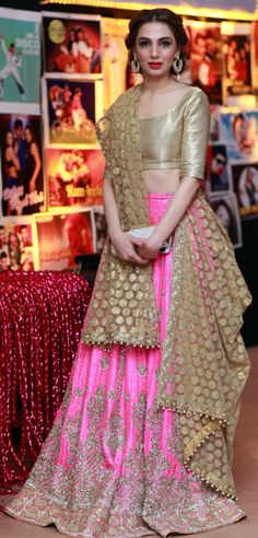 Tissue top, beautiful lehenga ...