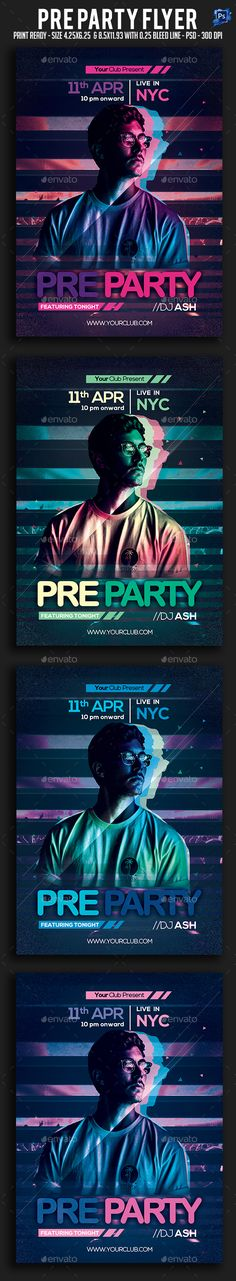 #Pre #Party #Flyer - Clubs & Parties Events