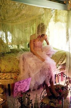 Royal Lace Bedroom    Betsey Johnson  Spring 2003 Collection