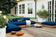Teak outdoor sectional sofa by James Perse - Malibu