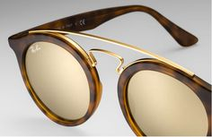 84a679bc478f7 Frame Color Tortoise Lens Color  Flash Mirror Brown Gold Model  RB  Authentic Brand New Ray Ban Gatsby sGuaranteed Box