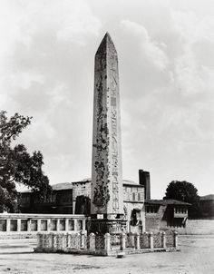 The Obelisk of Theodosius, Around 1490 BC the Egyptian Pharaoh Thutmose III erected two obelisks before the Karnak temple in Luxor to commemorate the victories of his forces in Mesopotamia.       In the 4th century AD, an unknown Roman emperor who wanted to accomplish something impressive that would create excitement among his people had the colossal obelisk brought to Constantinople.