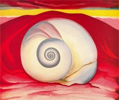 Red Hill and White Shell, 1938 ~ Georgia O'Keeffe ( American, 1887-1986)